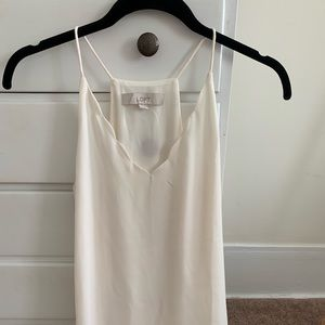 Loft silky cami with scalloped trim